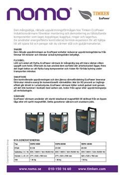 Timken EcoPower Induction Heater Info Swe