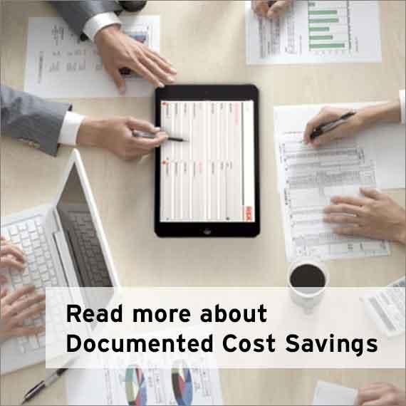 Documented costsavings